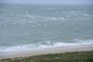 Rough seas at the tip of Cape Canaveral